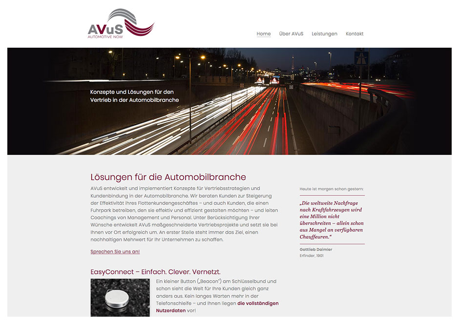 Website AVuS Automotive