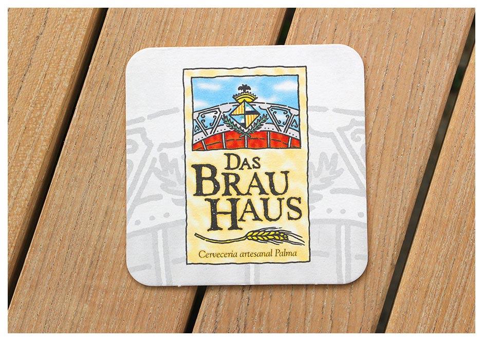Logo Das Brauhaus (Illustration) auf Bierdeckel