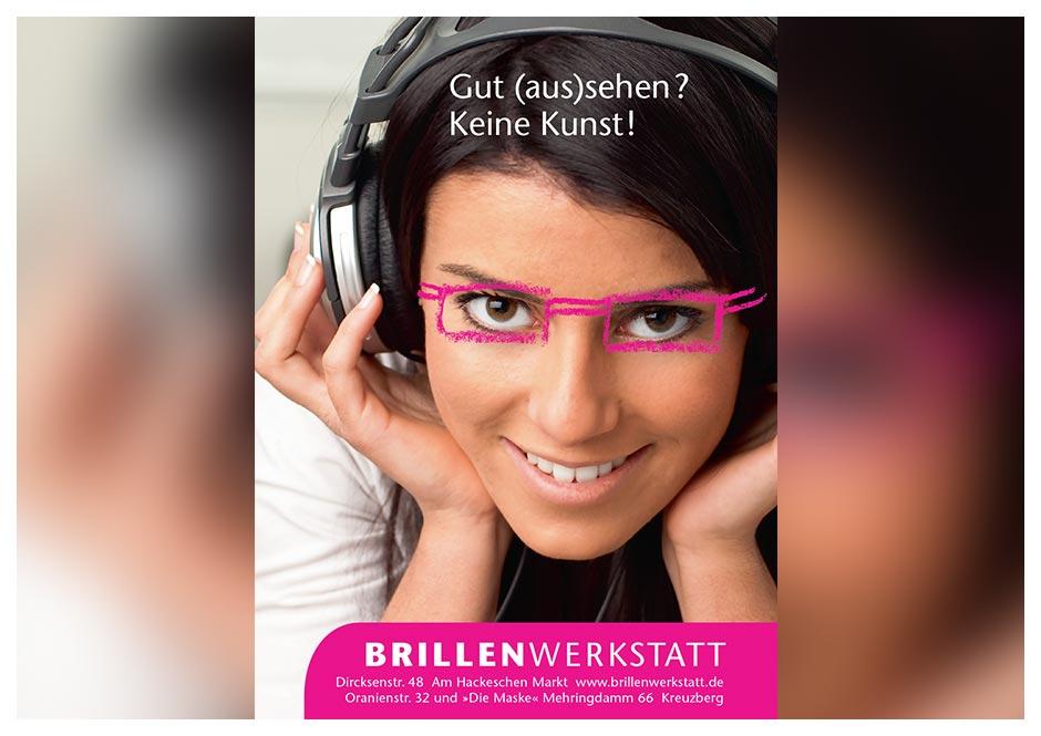 Anzeige Brillenwerkstatt zur Art Week
