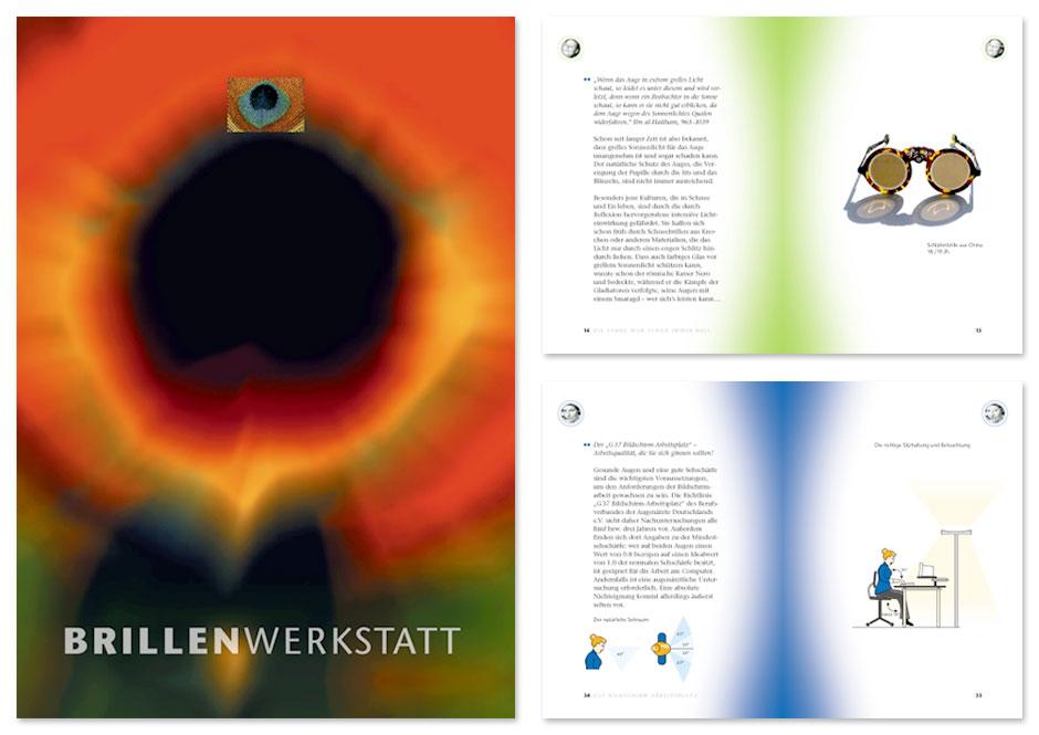Optiker-Broschüre Brillenwerkstatt, Titel und Innenseiten