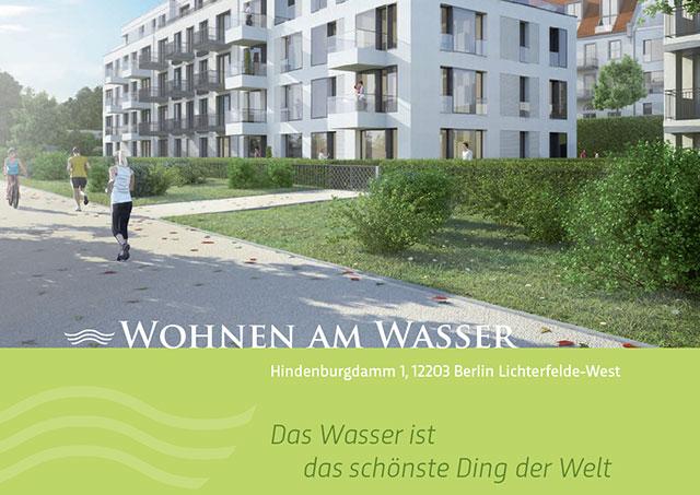 Detail Broschüre für Eigentumswohnungen am Wasser