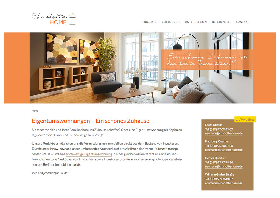 Website Charlotte Home