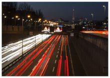 Fotografie für AVuS Automotive Now – Nachtbild der Autobahn