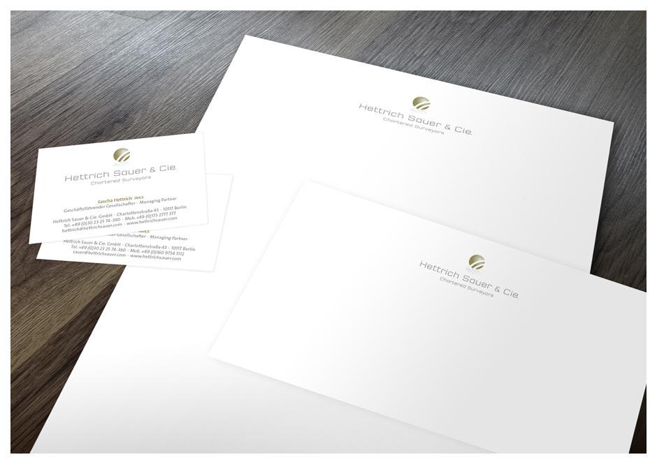 Corporate Design: Briefbogen, Visitenkarte und Kurzmitteilung