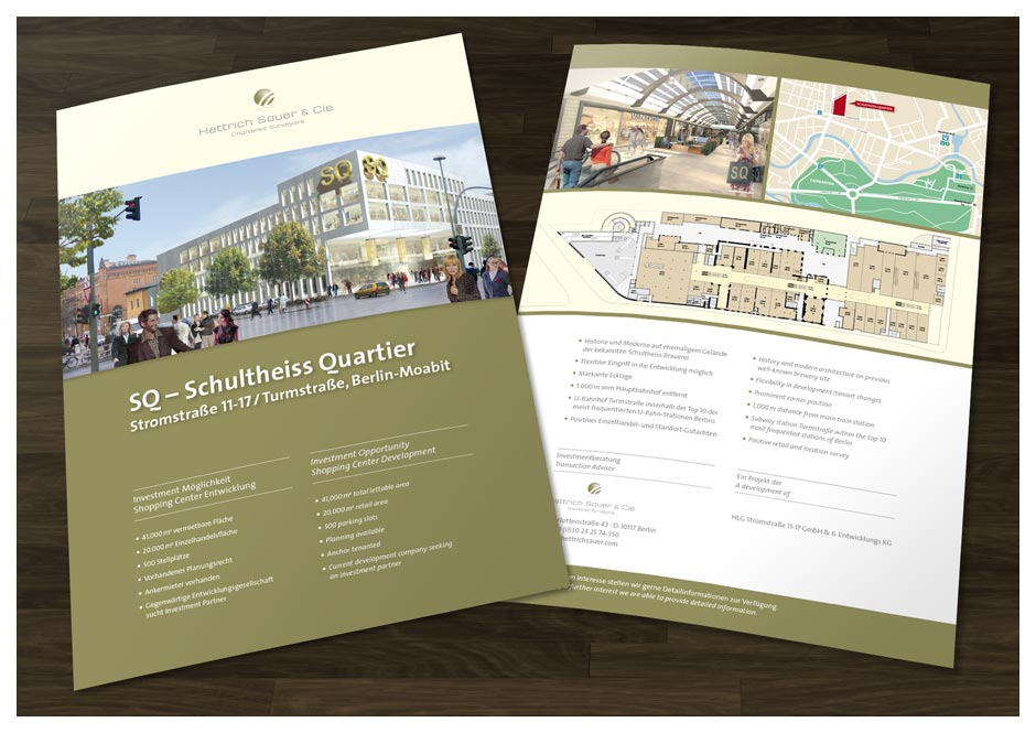 Immobilien-Flyer im Corporate Design