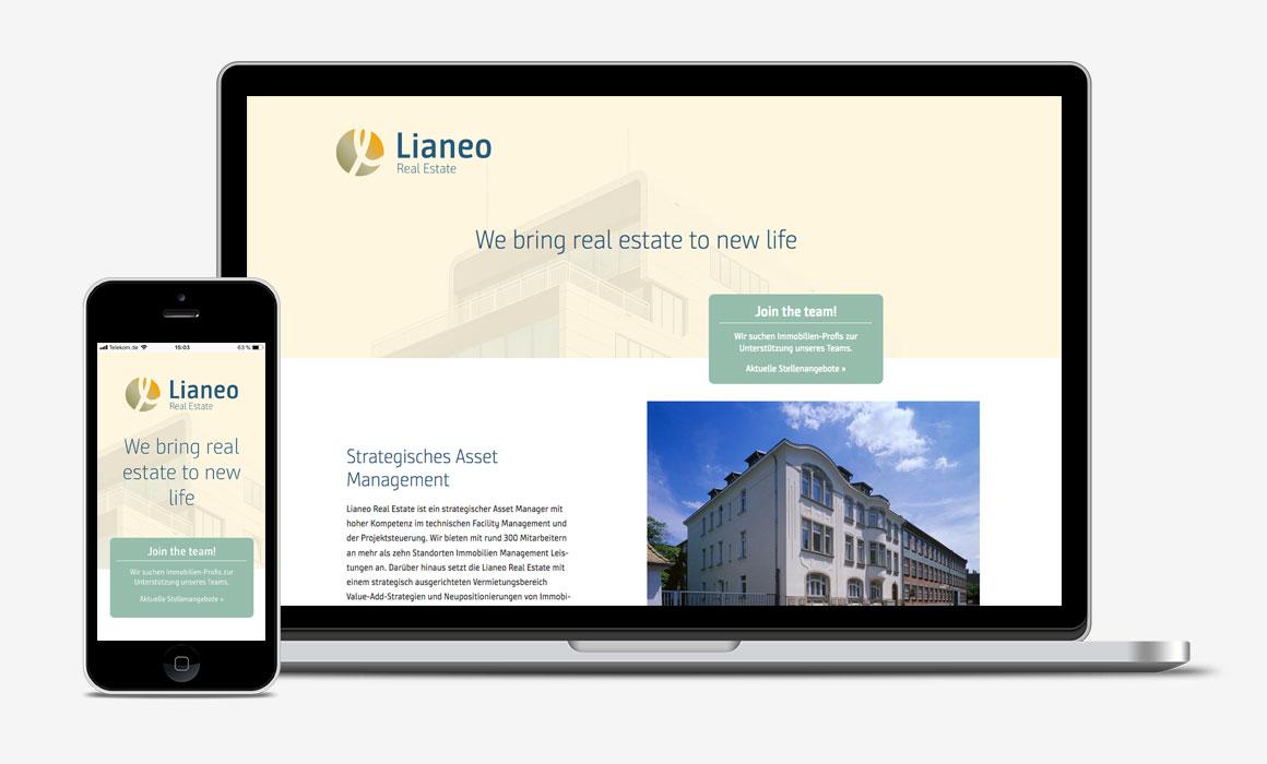 Website Lianeo – responsive Webdesign und Programmierung