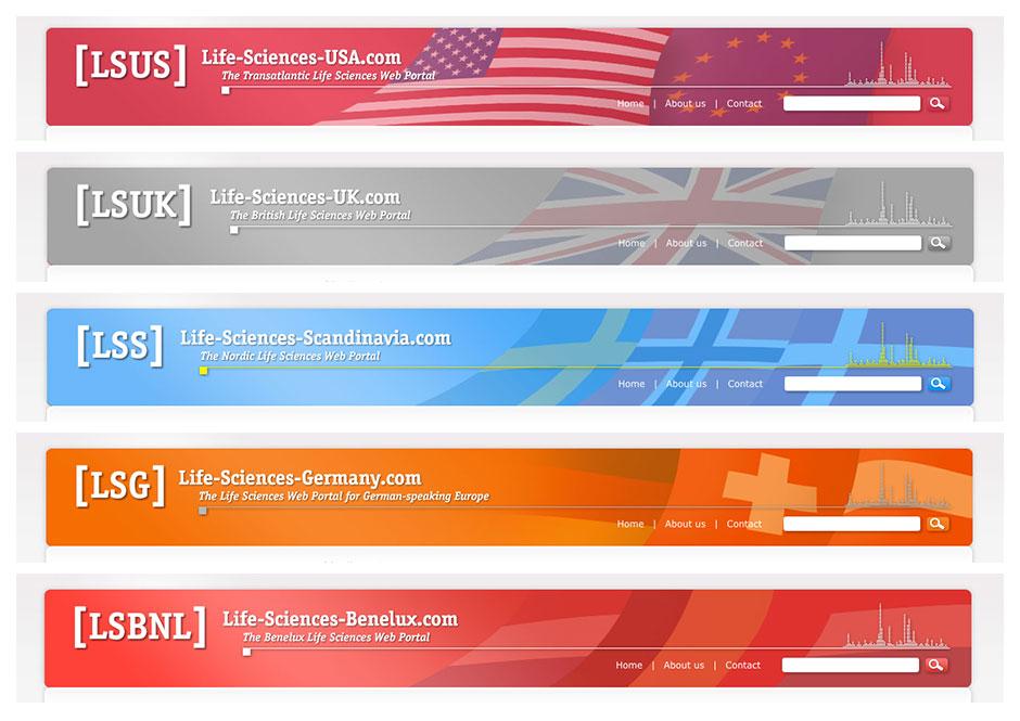 Life Sciences Web Portale: Internationale Schwester-Websites