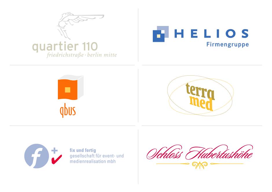 Beispiele für Logo-Design/Logo-Gestaltung