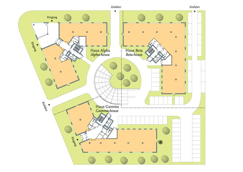 Grundriss-Plan Büro-Center Neu-Isenburg