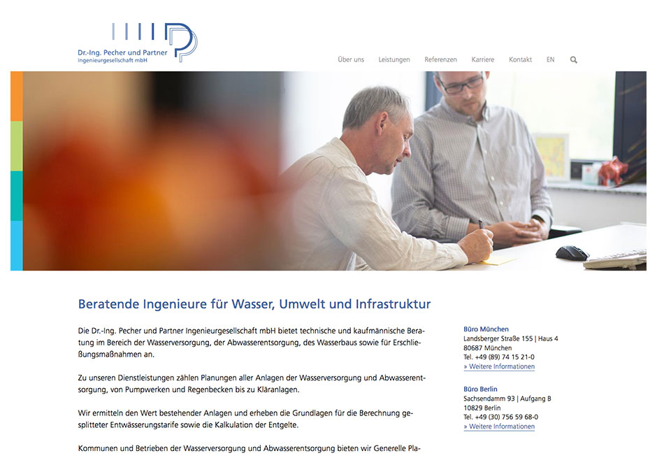 Website Pecher und Partner