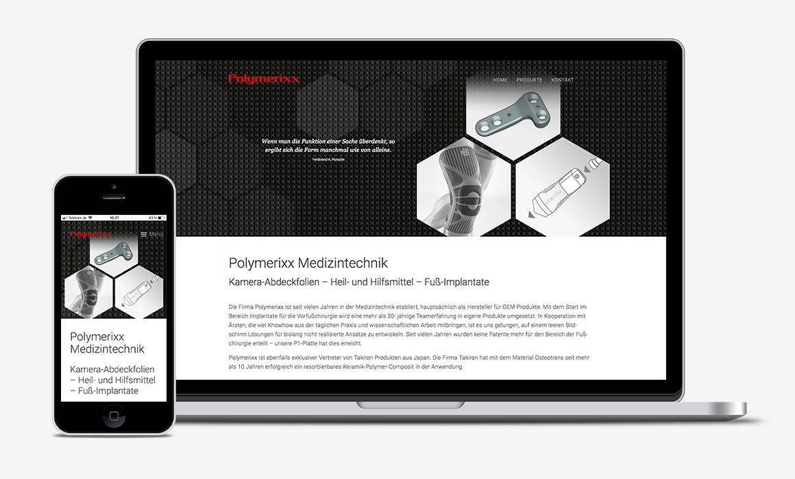Polymerixx Medizintechnik Responsive Website