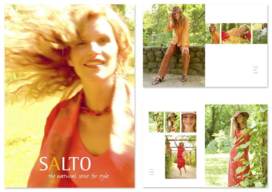 Mode-Broschüre Salto, Titel und Innenseiten