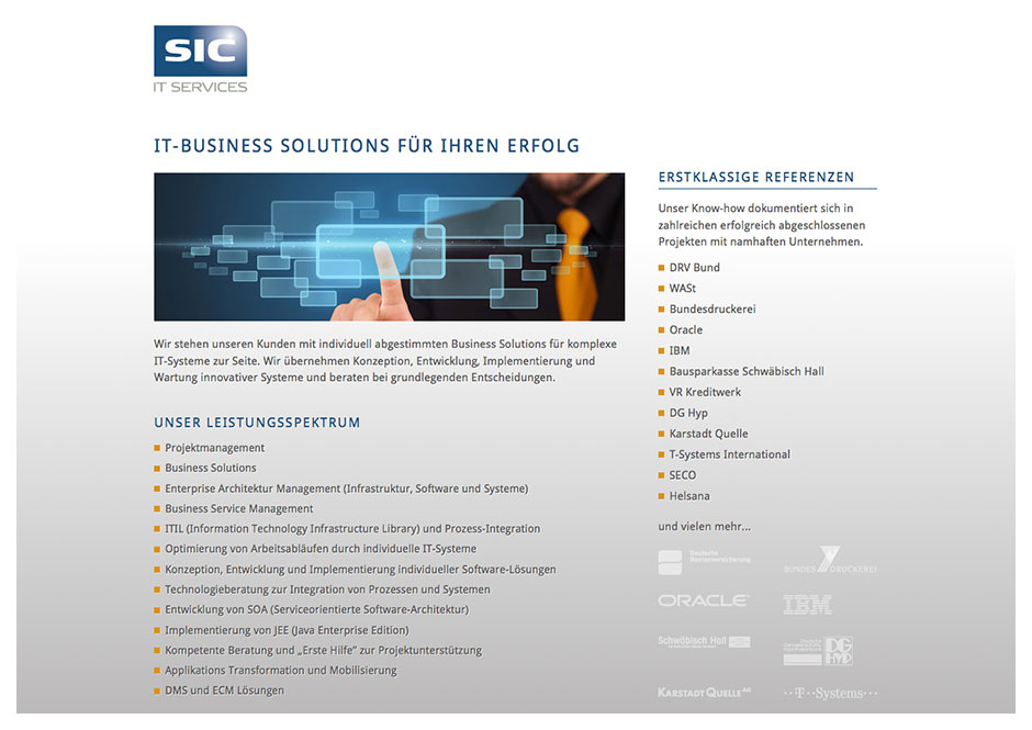 Website SIC IT-Services