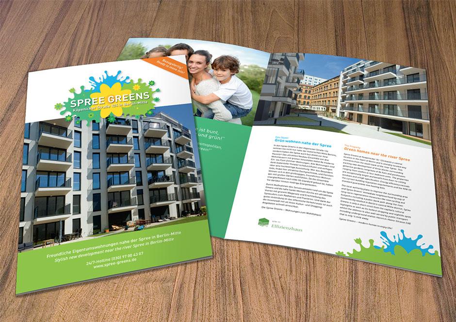 Spree Greens Immobilienprojekt: Broschüre für Eigentumswohnungen
