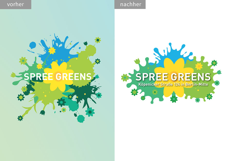 Spree Greens Immobilienprojekt: Logo-Redesign