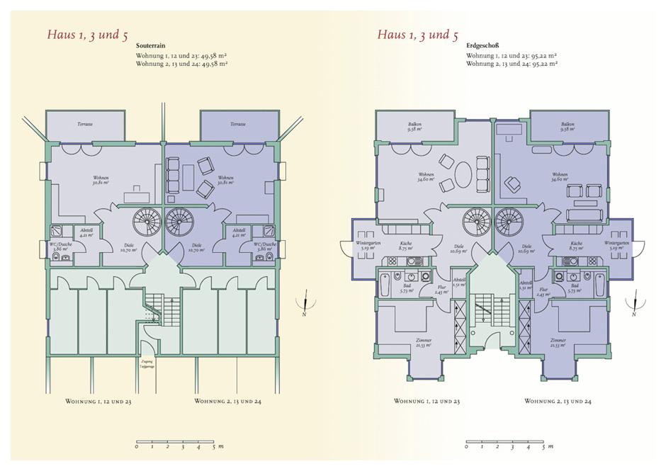 Grundriss-Plan Wohnungen Stallupöner Allee